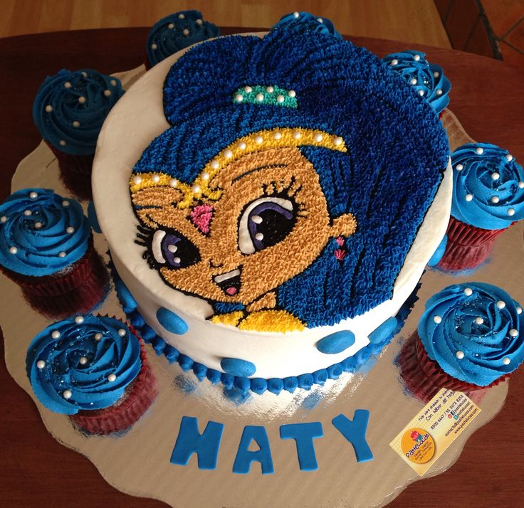 Shimmer and Shine cake & cupcakes | Lo último!! | Pinterest | Shimmer and shine cake, Birthday and Birthday parties