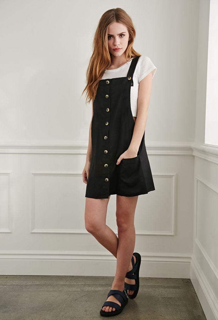 Linen Overall Dress   Forever 21 - 2000078392