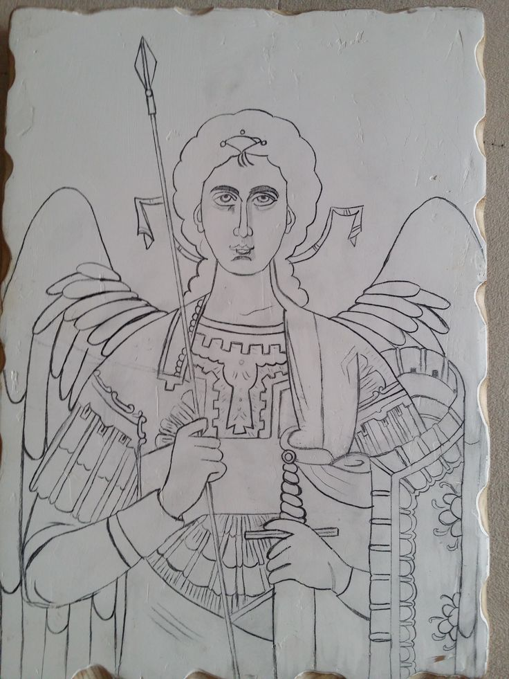 Archangel Michael tracing icon