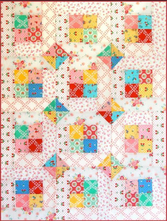 Two Happy Bed and Baby Quilt Pattern | Design a pretty quilt for mommy and me with this two-for-one quilt pattern!