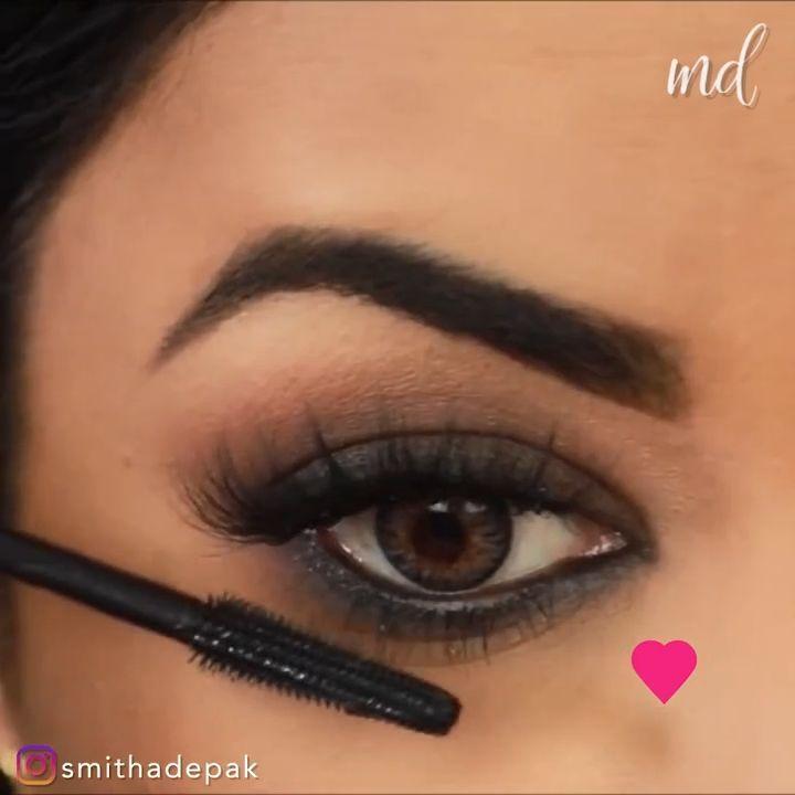 Eye Makeup Kajal Simple Smokey