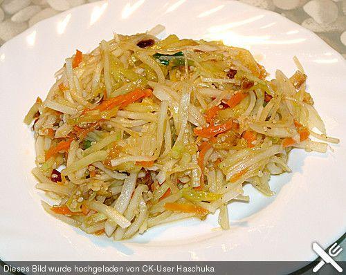 Asiatischer Rettich - Möhren - Salat (Rezept mit Bild) | Chefkoch.de