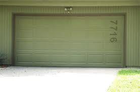 House numbers on garage door?