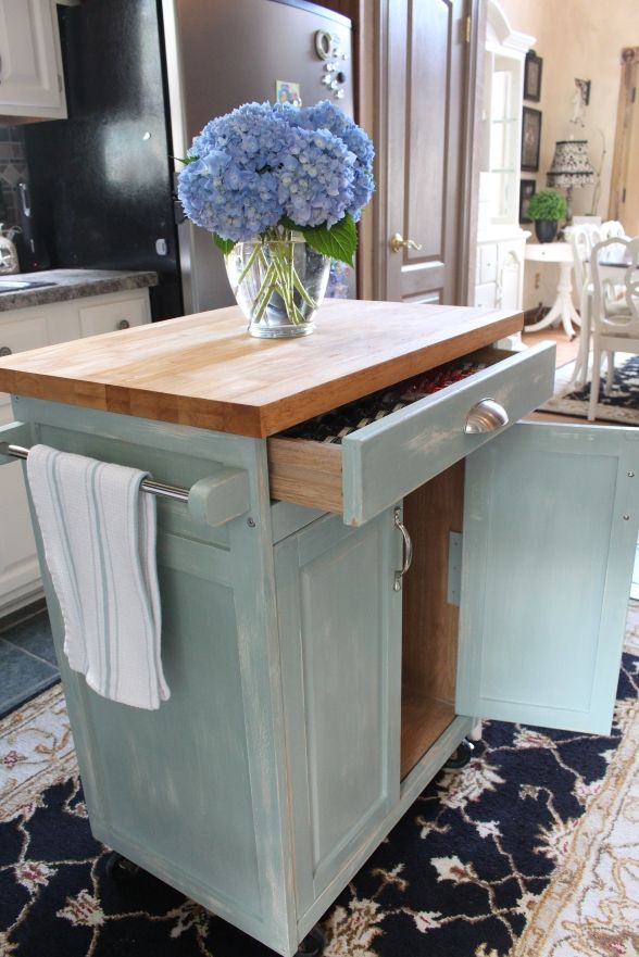 Rolling Kitchen Cart - I love the top drawer.