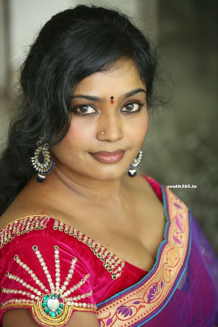 South Indian Aunty #Jayavani In Transparent Red Saree At #RajMahal Telugu Movie Press Meet.