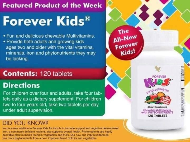 Do your children eat all their fruit & vegetables? I know mine would not eat theirs when they were growing up!  But the grandchildren do like these Forever Kids Multivitamins that go a long way to giving them the correct balance of vitamins, iron & minerals they lack from eating their 5 a day.... http://www.rhondawilliams.flppro.biz/