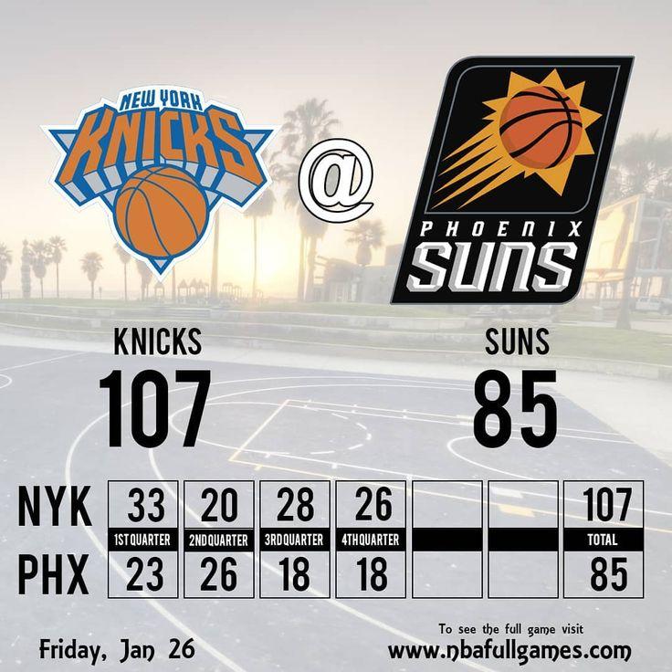 #KNICKS wins #SUNS  #newyorkknicks #newyork #phoenix #phoenixsuns #knickswin #knicksvssuns #1stquarter #halftime #halftimereport #3rdquarter #nba2018 #nba #nba2k18 #basketball #basket #bball #bball #sports #stats #sport #deportes #basquetbol #basquet #resultados