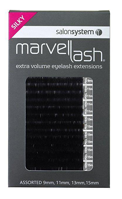 Salonsystem ciglia estensioni Silky 0,20Volume, colori assortiti nero
