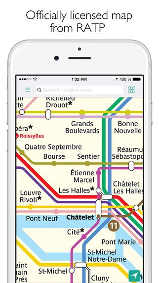 Paris Metro Map and Route Planner by mxData Limited