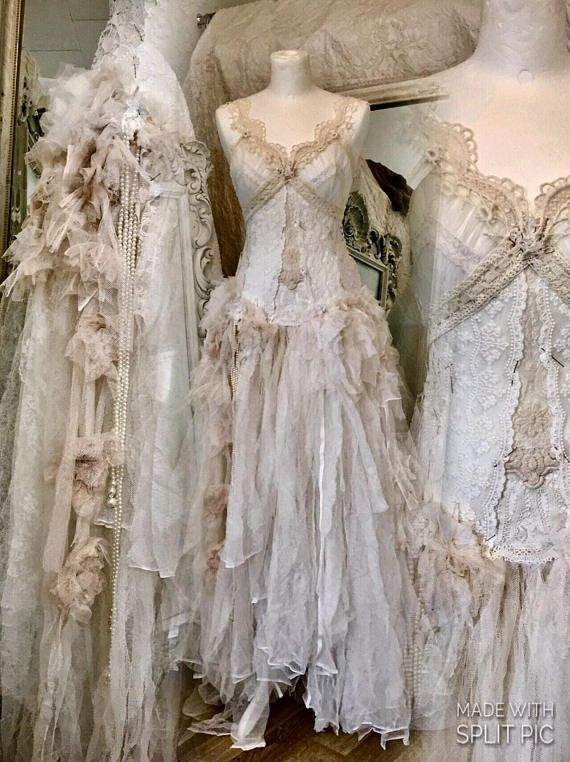 Reserved Wedding Dress With Roses Antique French Lace Pearls