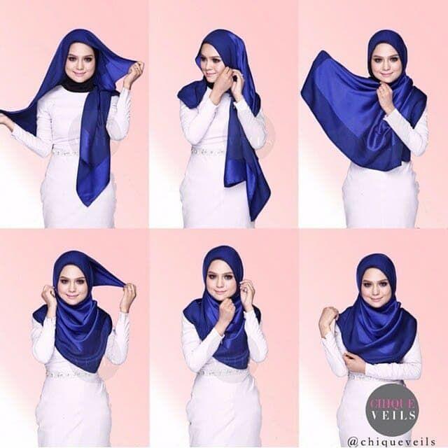 Tutorial Hijab Pashmina Bahan Licin Kursus Hijab Tutorial Hijab Pashmina Kerudung