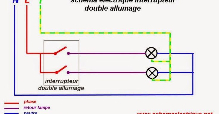 - schéma électrique interrupteur double allumage   - branchement éclairage par double commande   - câblage les différents types des in...