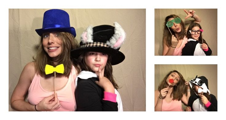 PG Booth, the best diy ipad photo booth app for parties and weddings, photo strip example of using props!