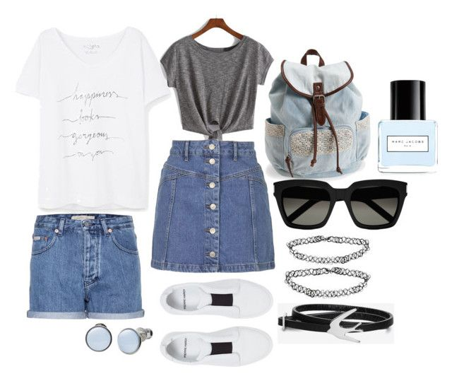 """Summer"" by dobrayaprosto ❤ liked on Polyvore featuring Violeta by Mango, Topshop, Calvin Klein Jeans, Pierre Hardy, Aéropostale, Yves Saint Laurent, Monki, McQ by Alexander McQueen, Skagen and Marc Jacobs"