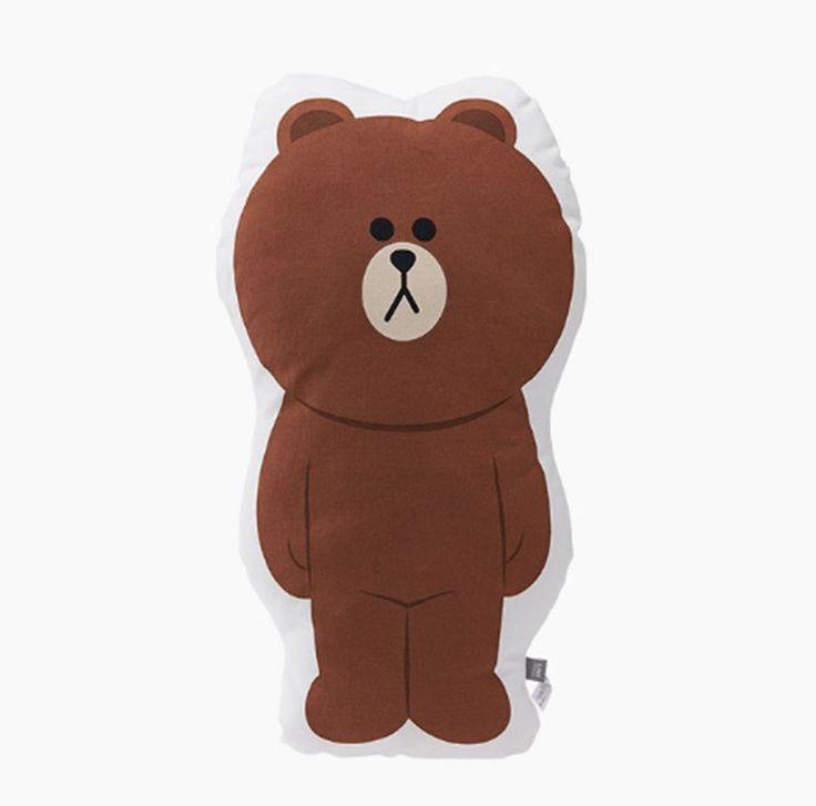 LINE Friends Shaped cushion Brown body Character Doll Gift Toy Original GENUINE #LINEFriends #Dolls