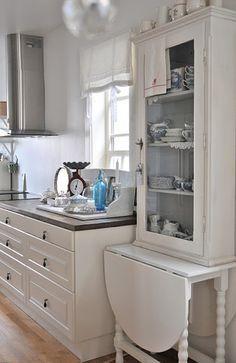 All white Norwegian cottage