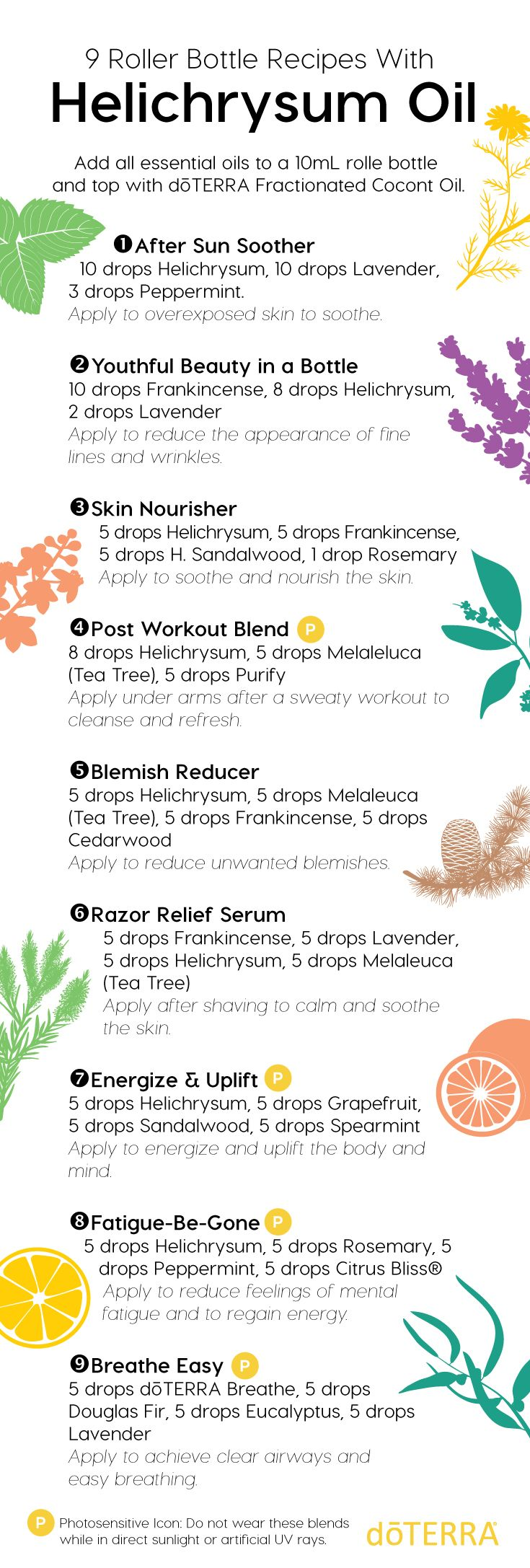 If you're looking for ways to incorporate Helichrysum oil into your routine, these roller bottle DIY's are for you! Try one or all of these simple roller bottle blends and see quickly how Helichrysum can greatly benefit your life.