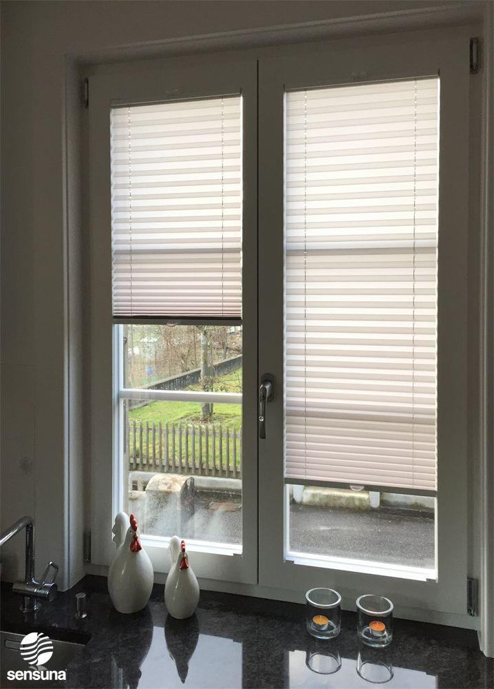 Trend sensuna K chenplissee nach Ma gefertigt Kundenfoto Customized kitchen pleated blinds customerphoto