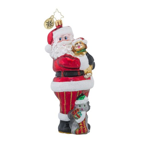 """Christopher Radko Animal Related Charity Ornament - """"Christmas Tail"""""""