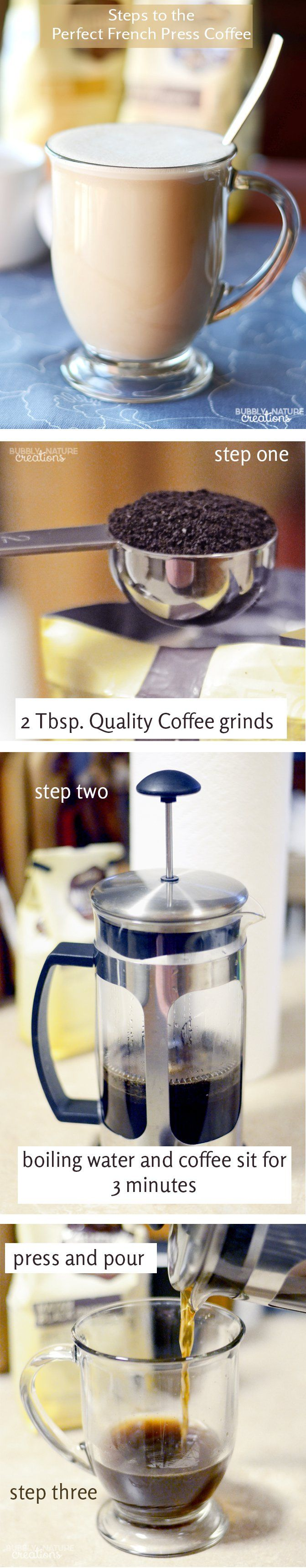 Steps to the Perfect French Press Coffee!