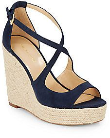 Such cute strappy wedge sandals! They would go with everything!  Melody Espadrille Wedge Sandals – Reg $170 – Sale $59.99  #shoes #sale #wedge