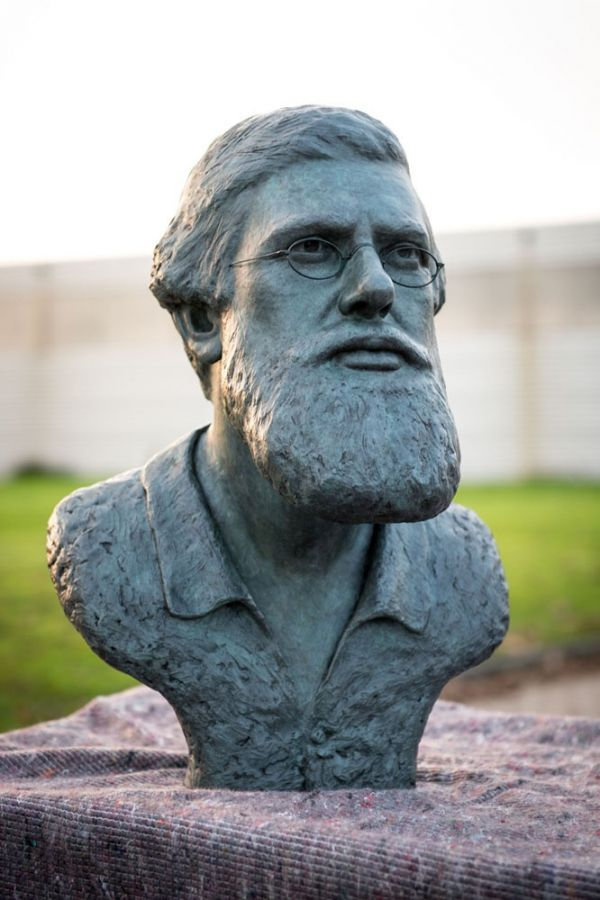 #Bronze #sculpture by #sculptor Anthony Smith titled: 'Alfred Russel Wallace…