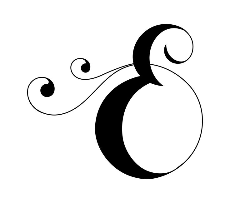 Drop cap of the letter E