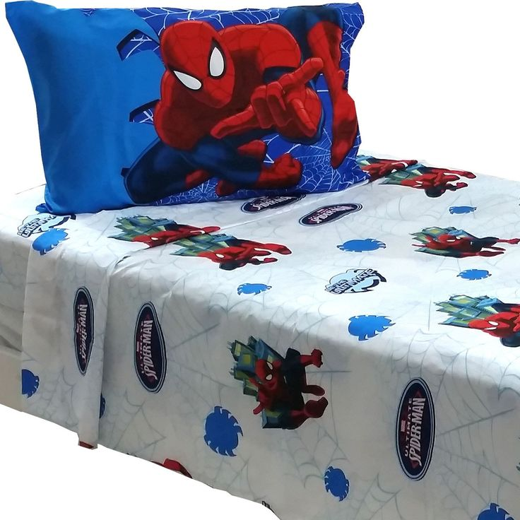 Marvel Comics Spiderman Bed Sheet Set Superhero Astonish Bedding Accessories: Twin
