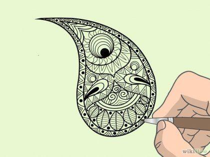 Как нарисовать дизайн пейсли