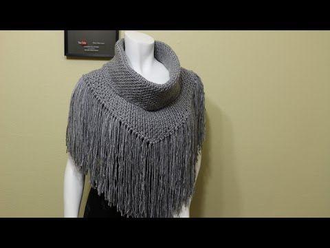 Cuellos con flecos para tejer en una tarde / Tutoriales | Crochet y Dos agujas - Patrones de tejido
