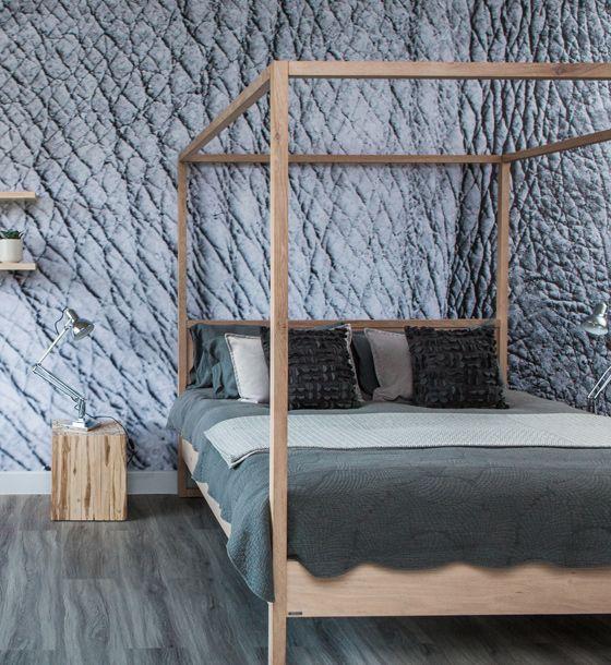 Rhino themed room #Wallpaper #RhinoSkin #Bedroom #Greyroom #Decor #Greyfloors