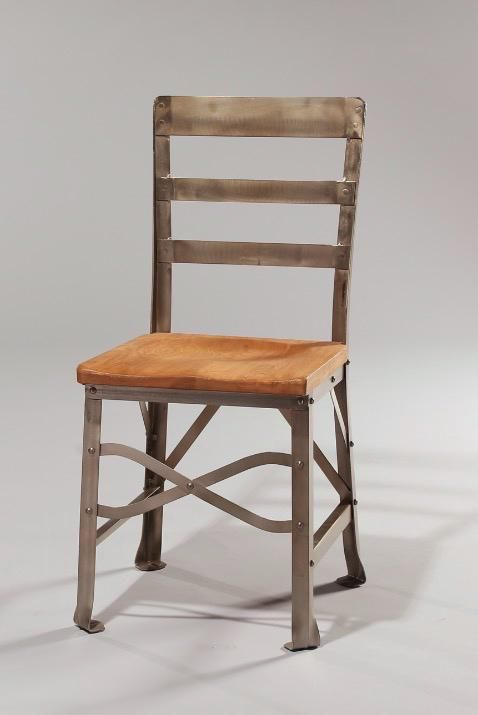 #LOVE this #chair. What are your thoughts? #metal #hardwood #solidwood