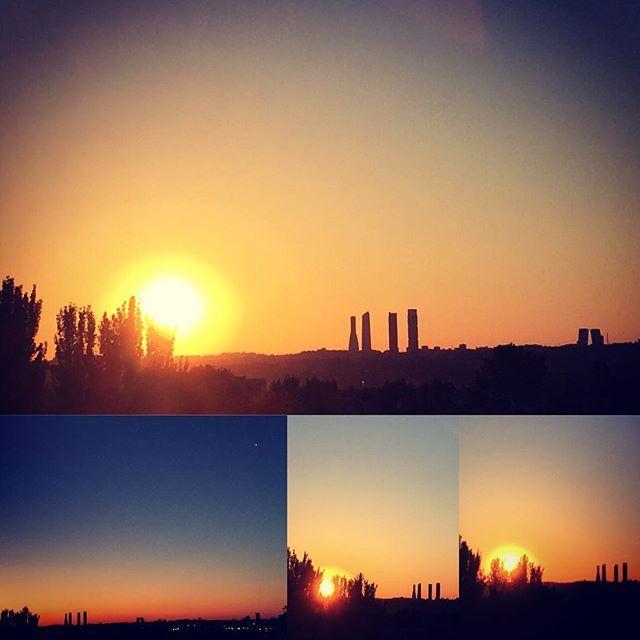 Tras la huida del Lucero del Alba, El Sol se impone. Así ha amanecido hoy domingo en cuatro instantes en Madrid. Parece que vuelve el calor. Buenos días a todos. Disfrutad y sed felices. 🌞🌞🌞🍀🍀🍀 #igersmadrid #igersespaña #artphotography #streetphotography #stradivarius #art #nature #naturalbeauty #nature_perfection #natureaddict #naturelovers #nat #primavera #pri #instagramlove #igramslike #amanecer #dawn #dawndaylight #daw #sunnyday #sunlight #sun🌞 #sun☀️ #sunrise #sunnies #sunrays…