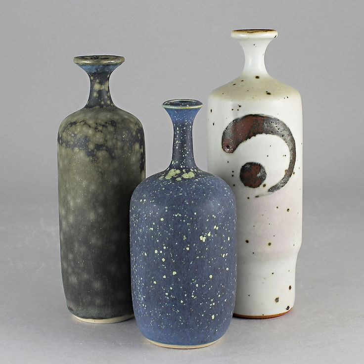 Rolf Palm (1960s) Three Unique Vases