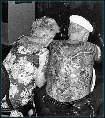 fine art photo of a full back tattoo! Biker portraits taken at Sturgis Bike Week, 1990! - Compliments of Martin Garfinkel
