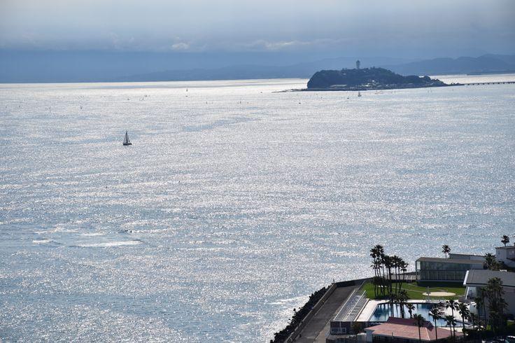 View of Enoshima, Zushi Marina from Osaki-koen, Jun 6, 2015.