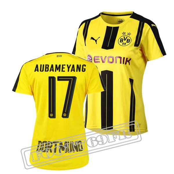 Promo Maillot Du Aubameyang 17 Borussia Dortmund Femme Jaune/Noir 16/17 Domicile : Bundesliga