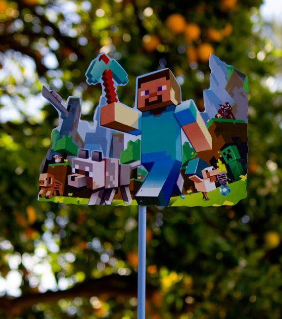 Minecraft Wood Birthday Centerpieces For Birthday Party