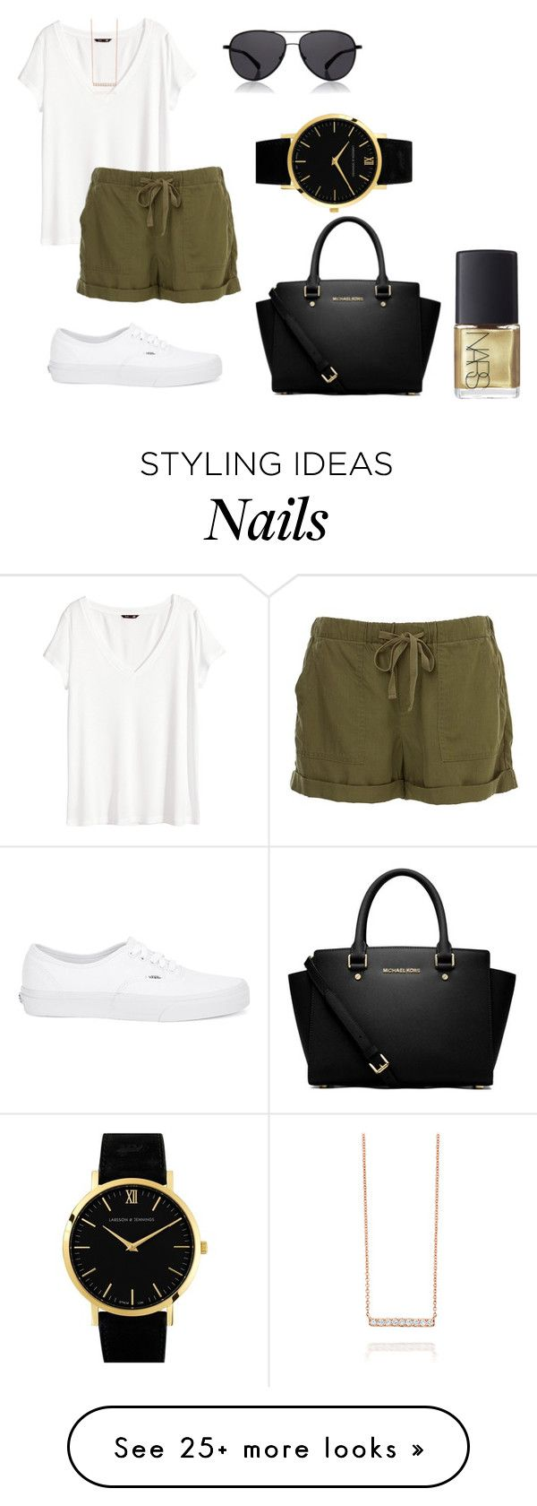 """""""lazy day"""" by bintoman on Polyvore featuring H&M, Vans, The Row, MICHAEL Michael Kors, Larsson & Jennings and NARS Cosmetics"""