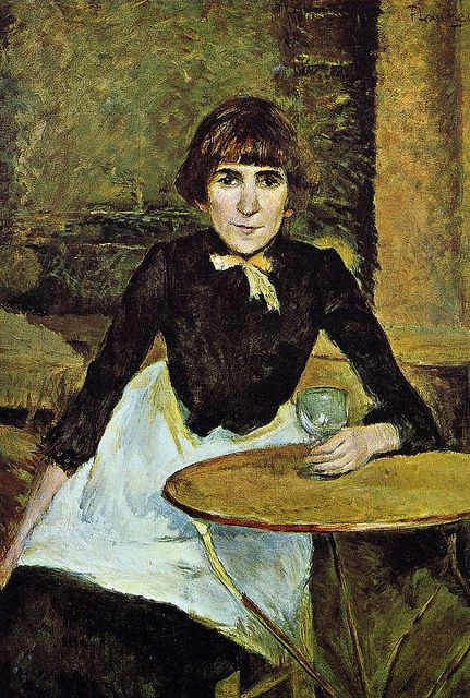 H de Toulouse-Lautrec. At La Bastille (also known as Portrait of Jeanne Wenz) - 1889 - National Gallery of Art - Washington