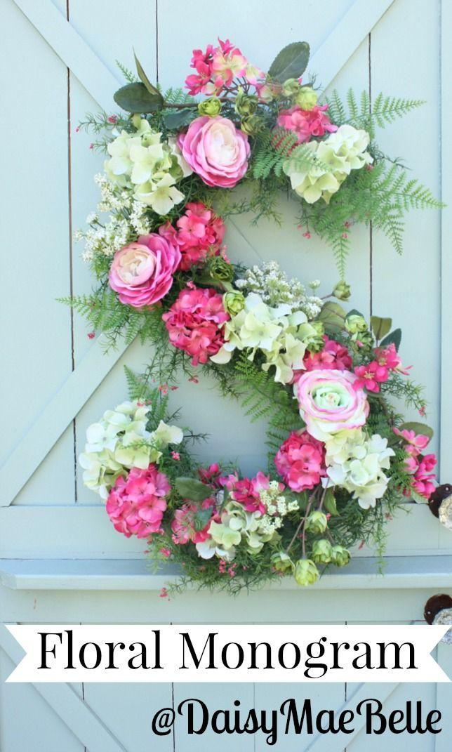 How to Make a Floral Monogram - So Pretty!