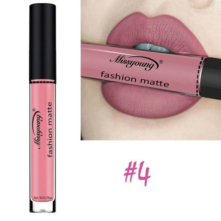 Missyoung Matte Lip Gloss Lips Makeup Lipstick Long Lasting Liquid Cosmetics Makeup