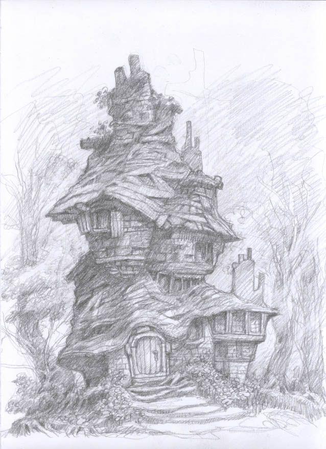 Pencil Work Fantasy Environments