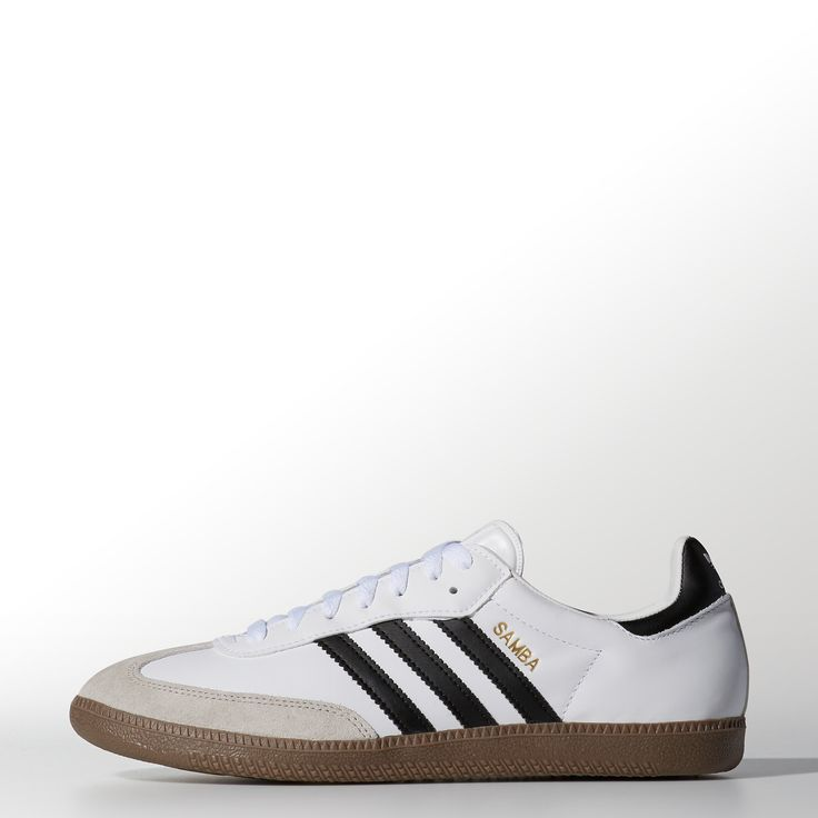 The adidas Samba seems to have been born on the street, but this favorite adidas shoe first debuted as a soccer trainer designed to negotiate frozen pitches. The latest men's adidas Originals Samba shoes feature eco-friendly materials inside and out and fresh color pops on the 3-Stripes and heel patch.