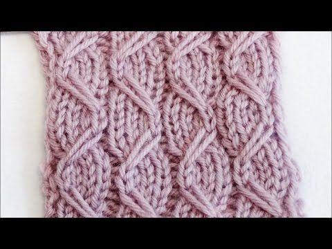 Strickmuster mit Zugmaschen - Knitting Pattern with Slipped Stitches - Ranken auf Streifen - YouTube