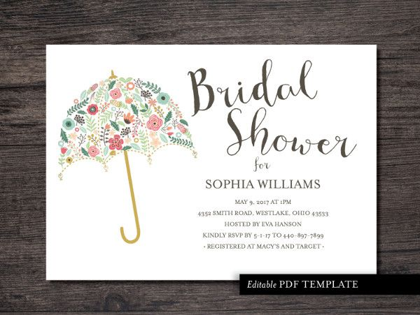 20 Format Of Wedding Shower Invitation Templates For Microsoft Word And Review Di 2020