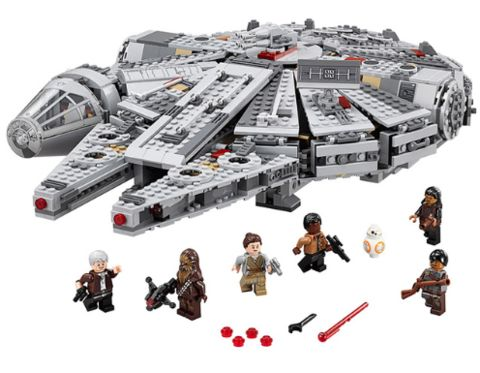 Star Wars Millennium Falcon & Minifigures Building Blocks Model The Force Awakens - ChavezFigures