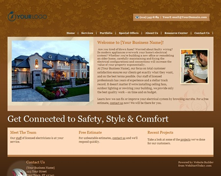 14 best website builder for electrical contractors images on website builder online create a website for free pronofoot35fo Choice Image