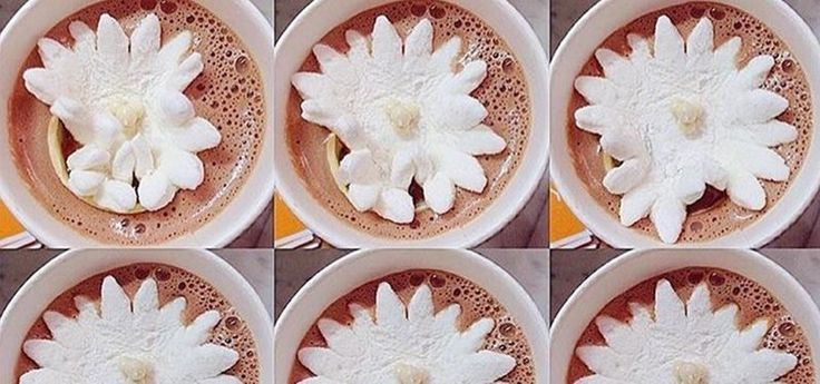 These Marshmallow Flowers Actually Bloom in Hot Chocolate « Food Hacks Daily
