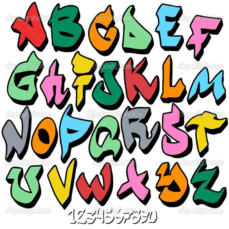 graffittie fonts | depositphotos_7796727-graffiti-font-alphabet | Educación Artística ...